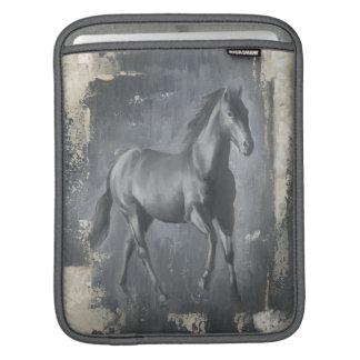 Black Running Stallion iPad Sleeve