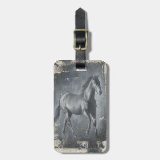 Black Running Stallion Luggage Tags