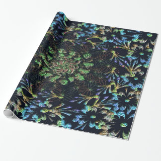 Black Russian Flora Wrapping Paper