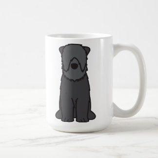 Black Russian Terrier Dog Cartoon Coffee Mug