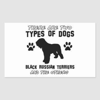 black russian terrier gift items rectangle sticker