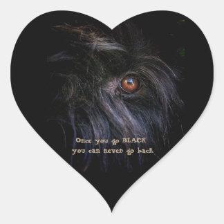 Black Russian Terrier Heart Sticker