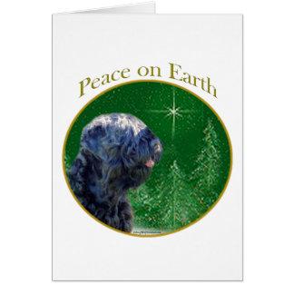 Black Russian Terrier Peace Card