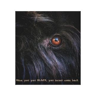 Black Russian terrier Print