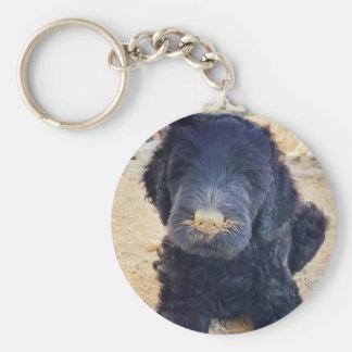 Black Russian Terrier puppy key chain