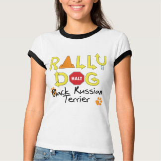 Black Russian Terrier Rally Dog T-Shirt