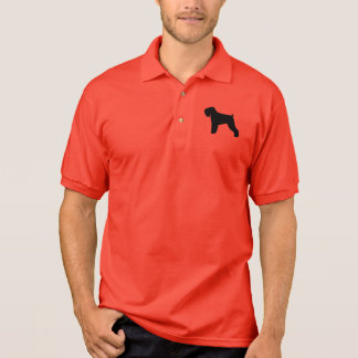 Black Russian Terrier Silhouette Polo Shirt