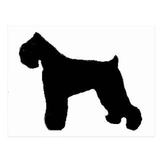 black russian terrier silo postcard
