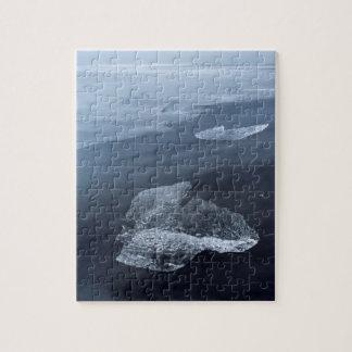 Black sand beach and ice, Iceland Jigsaw Puzzle