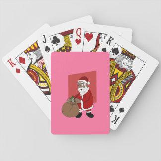 Black Santa Claus Cartoon Playing Cards