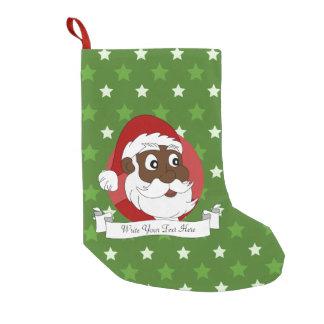 Black Santa Claus Cartoon Small Christmas Stocking