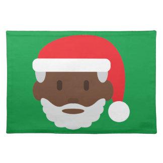 black santa claus emoji placemat