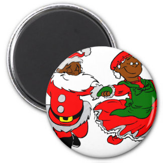 black santa mrs claus magnet