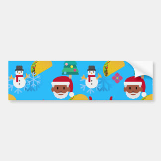 black santa taco christmas bumper sticker