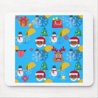 black santa taco christmas mouse pad