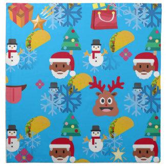 black santa taco christmas napkin