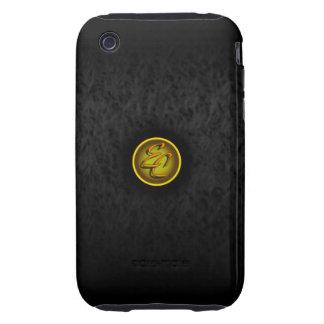 Black Satin Delight Tough iPhone 3 Cases