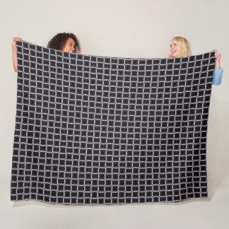 Black Satin Woven Knit Pattern Fleece Blanket