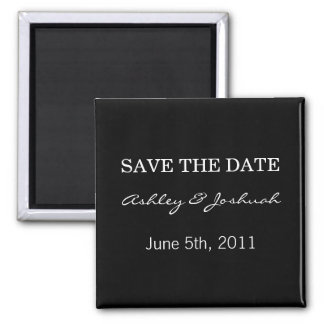 Black Save The Date Magnets
