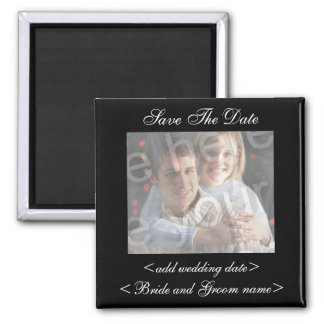 Black Save The Date Photo Magnet Magnets
