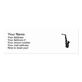 Black saxophone instrument business card template