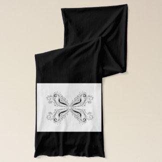 Black Scarf with Mandala