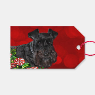 Black Schnauzer Christmas Gift Tags