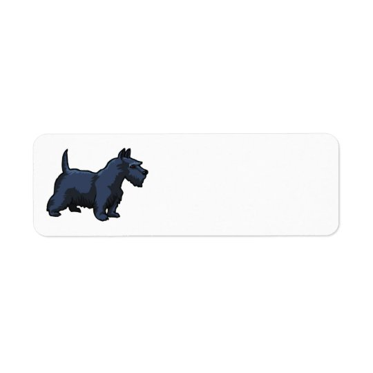 black schnauzer return address label
