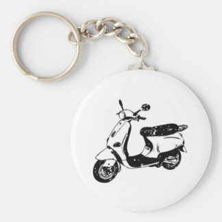 Black Scooter Key Ring
