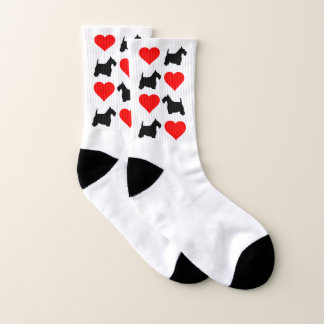 Black Scottie and Hearts Your Background Color 1