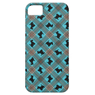 Black Scottie Dog Plaid Tartan iPhone 5 Covers