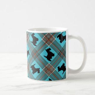 Black Scottie Dog Plaid Tartan Coffee Mug