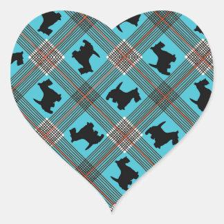 Black Scottie Dog Plaid Tartan Stickers