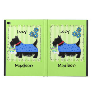 Black Scottie Terrier Dog Name Personalized Green