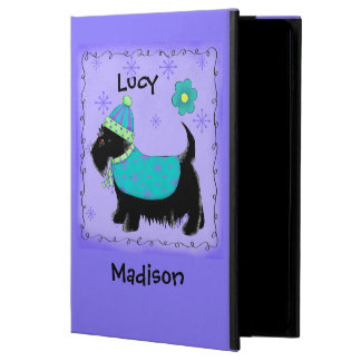 Black Scottie Terrier Dog Name Personalized Purple
