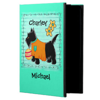 Black Scottie Terrier Dog Name Personalized Teal