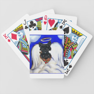 Black Scottish Terrier Angel Bicycle Playing Cards