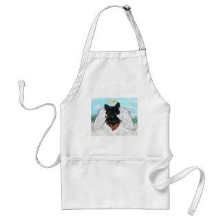 Black Scottish Terrier Angel Standard Apron