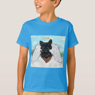 Black Scottish Terrier Angel T-Shirt