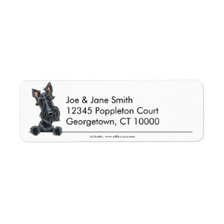 Black Scottish Terrier Clean & Simple Return Address Label