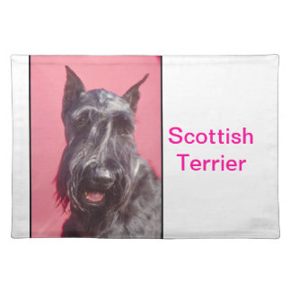 Black Scottish Terrier Dog Placemat