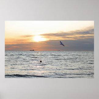 Black Sea Sunrise Poster