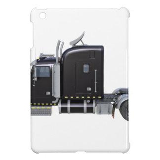 Black Semi Tractor Trailer in Side Profile Cover For The iPad Mini
