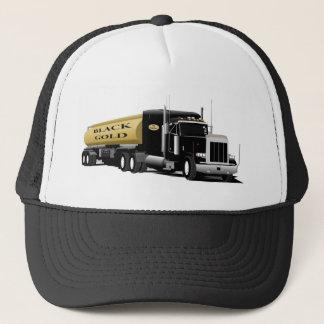 Black Semi Trucker Hat