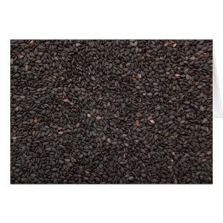 Black sesame seed card