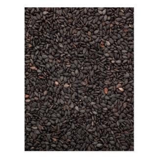 Black sesame seed postcard