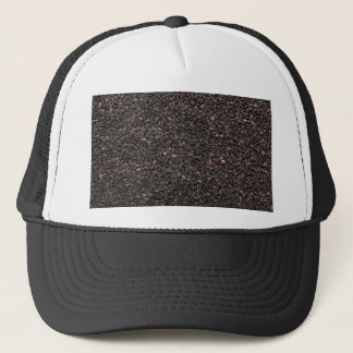 Black sesame seed trucker hat