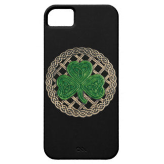 Black Shamrock And Celtic Knots iPhone 5G Case