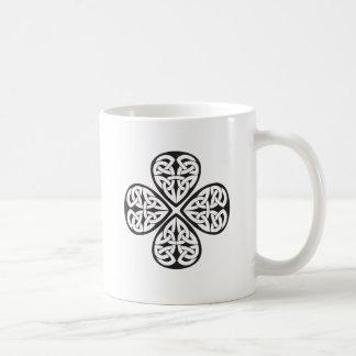black shamrock celtic knot coffee mugs