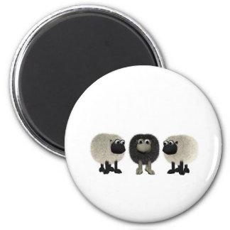 black sheep 6 cm round magnet